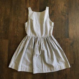 AA pinstripe button dress